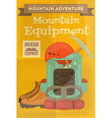 mountains equipment vector image vector image