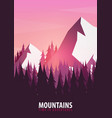 mountains poster nature landscape background with vector image vector image