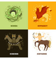 mythical creature 2x2 concept vector image