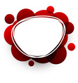 Oval background with red bubbles vector image vector image