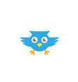 owl open eyes and fly for logo vector image vector image