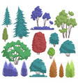 Park tree cartoon flat nature