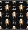 pattern with sloth hanging on tree vector image vector image