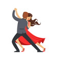 Professional dancer couple dancing latino colorful vector image