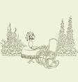 Rocking chair in garden vector image vector image