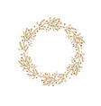 rustic and floral doodle wreath hand drawn vector image vector image