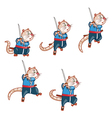 Samurai Mouse Jump Sprite vector image vector image