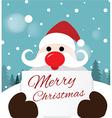 Santa Claus holding card vector image vector image