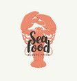 seafood banner for restaurant or shop with crab vector image vector image