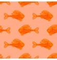 Seamless Orange Fish Pattern vector image