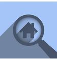 Search House vector image vector image