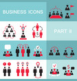 set of web icons for business finance office vector image vector image