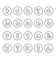 set round line icons of drink vector image