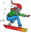 skeleton snow boarder vector image vector image