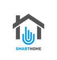 smart home emblem for digital technologies vector image vector image