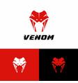 snake logo silhouette design vector image vector image
