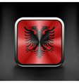 Sovereign state flag of country of Albania in vector image vector image