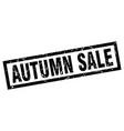 square grunge black autumn sale stamp vector image vector image