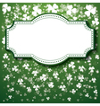 St Patricks Day Background with frame lights vector image vector image