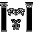 stylized ancient medieval columns second variant vector image vector image