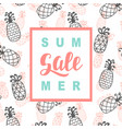 summer sale promotional banner template vector image vector image