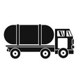 tanker truck icon simple style vector image