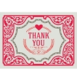 Thank You Vintage Greeting Card design template vector image