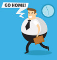 the end of the working day vector image vector image