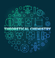 theoretical chemistry colored round line vector image