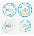 Thin line neat design logo set premium quality vector image