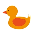 toy duck icon vector image vector image
