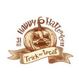 trick or treat retro happy halloween sketch vector image vector image