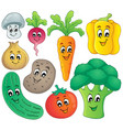 vegetable theme collection 4 vector image vector image
