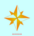 wind rose it is icon vector image vector image