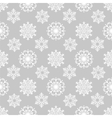 Winter background with snowflakes on grey vector image