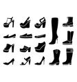 Woman shoes icons set vector image vector image
