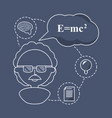 woman teacher chemistry with knowledge icons vector image