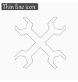 Wrench icon Style thin line vector image