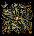 tropical gold composition vector image