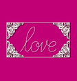 laser cutting of rectangular frame with floral vector image