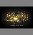 2019 happy new year greeting card background vector image vector image