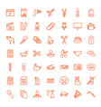 49 clip icons vector image vector image