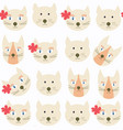 adorable cats seamless pattern it is located in vector image vector image