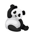 adorable panda sitting on the ground and vector image vector image