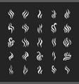 aromas vaporize icons set smells vector image