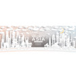 asia city skyline in paper cut style with vector image vector image