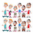avatars with interchangeable heads and bodies vector image vector image