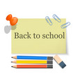 back to school tool concept background realistic vector image