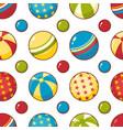 balls seamless pattern vector image