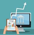 bank online application vector image